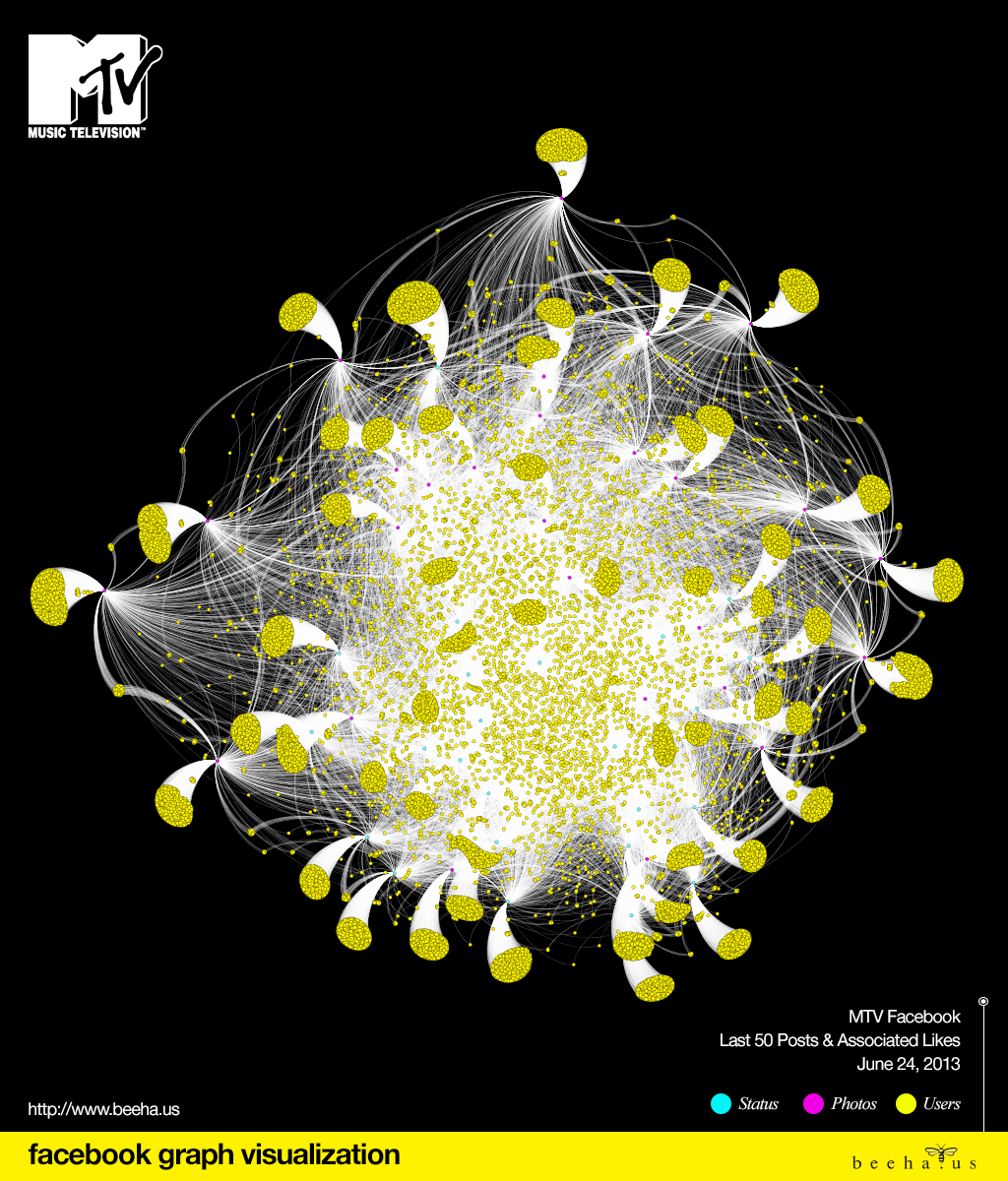MTV Facebook Graph Visualization
